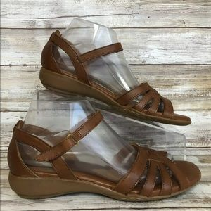 Naturalizer Shoes - Naturalizer 8N Caliah Brown Leather Strappy Sandal